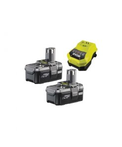 Ryobi RBC18LL26 Two Batteries + Charger ONE+ Starter Kit