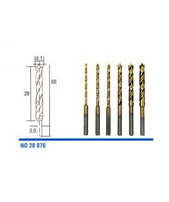 HSS twist drill bits Titanium-coated (pack of 6) PROXXON 28876
